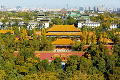 Autumn's Beauty along the Central Axis of Beijing